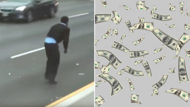 Cash Flying Out of Brinks Truck Causes Accidents on New Jersey Highway As People Rush To Collect 'Free' Money, Watch Video
